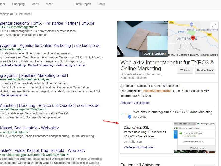 Kostenfreie Werbung über Ihren Google Brancheneintrag